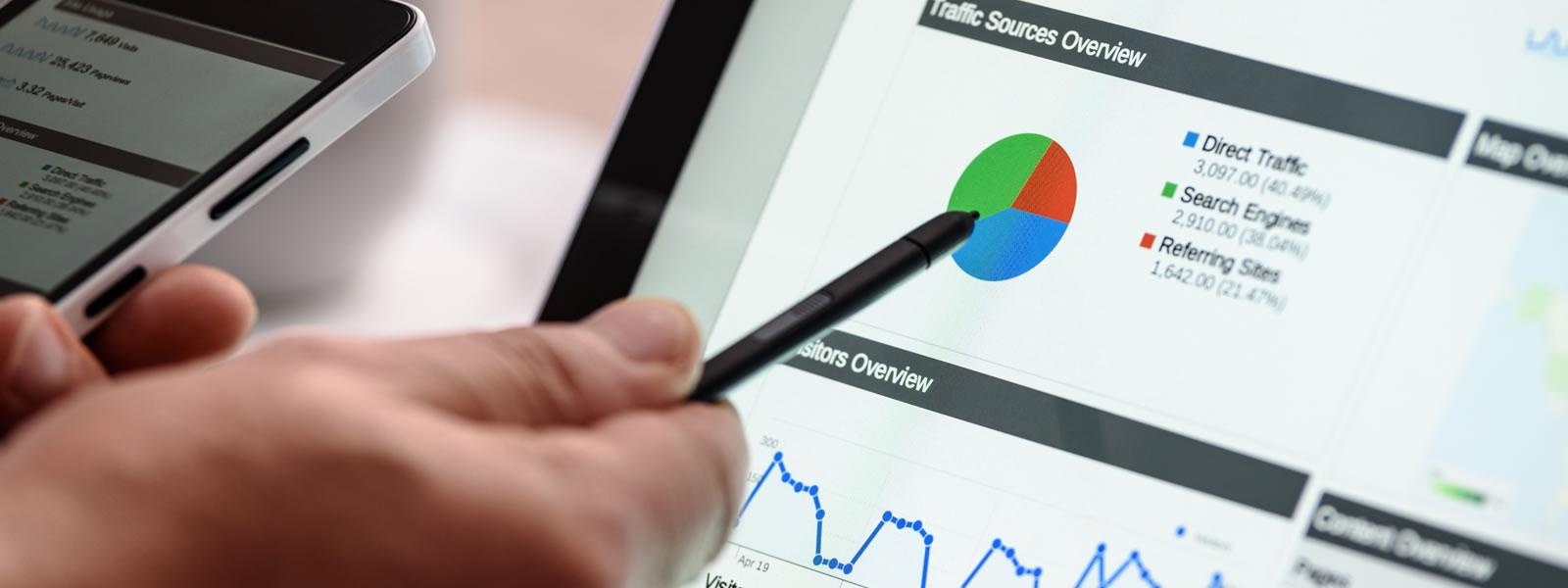 preWebIT - Google Analytics dashboard